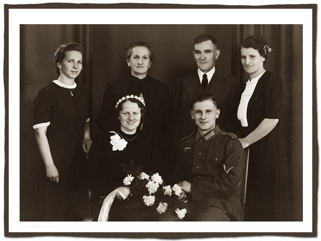 rodinné foto předci